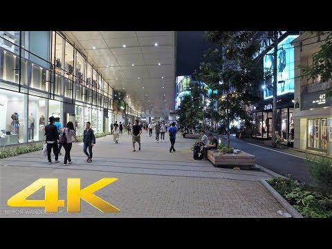 Summer night 2017 in Shinjuku south area, Tokyo - Long Take【東京・新宿南口】 4K