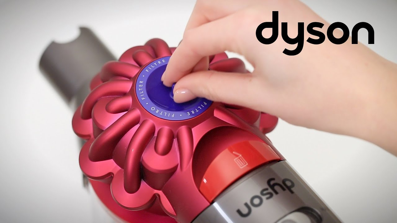 dyson v7 cord free vacuums washing the filter us. Black Bedroom Furniture Sets. Home Design Ideas