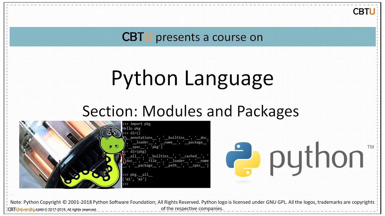 3 5 Python Modules and Packages I