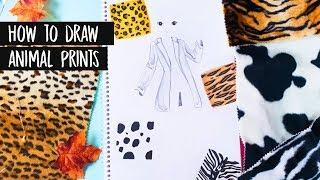 How to draw Animal prints   Tiermuster malen    Foxy Draws Tutorial