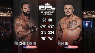 Alex Nicholson vs Jake Heun Full Fight | PFL 1 2018