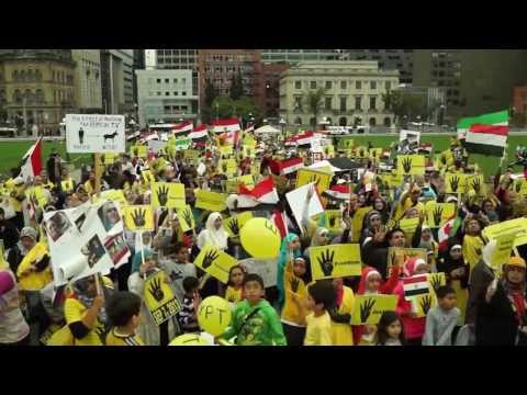 Canadians Pro-Democracy protest the bloodshed and illegitimate military coup in Egypt (1)