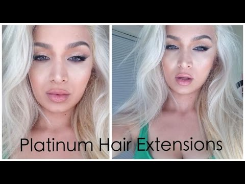 How To Bleach Hair Extensions To Platinum Blonde