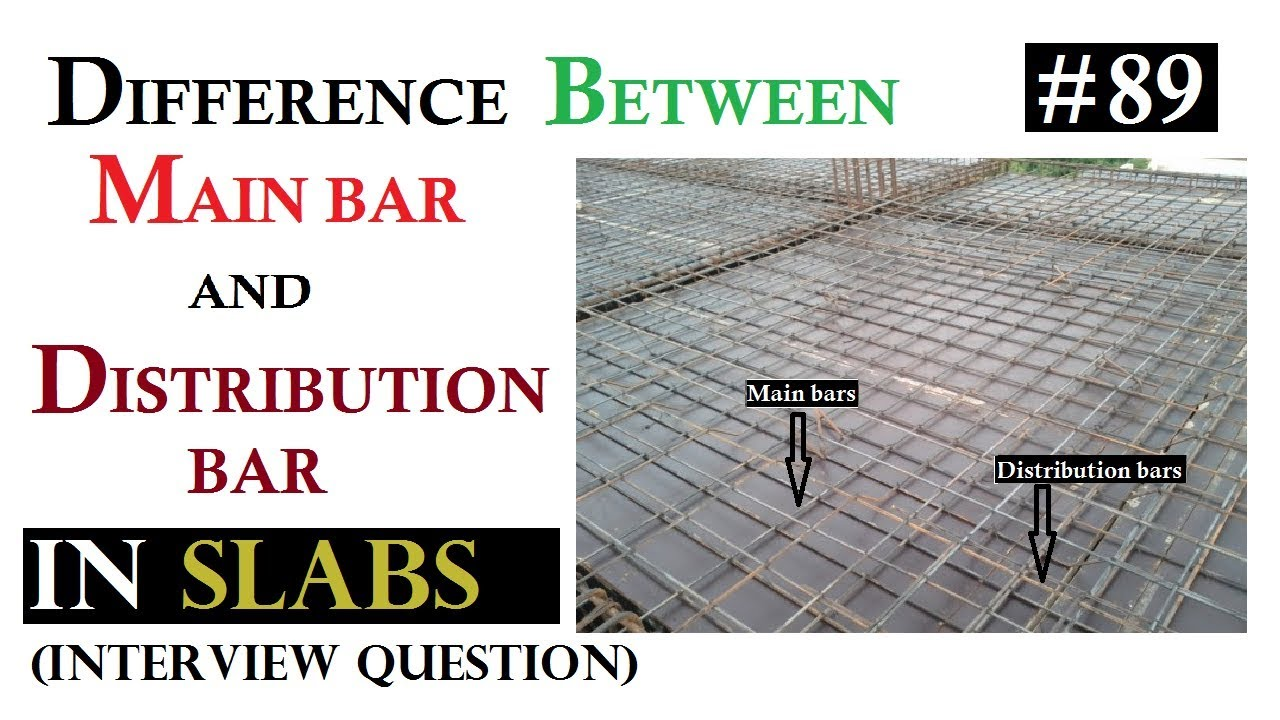 Difference between Main bar and Distribution bar in Slab