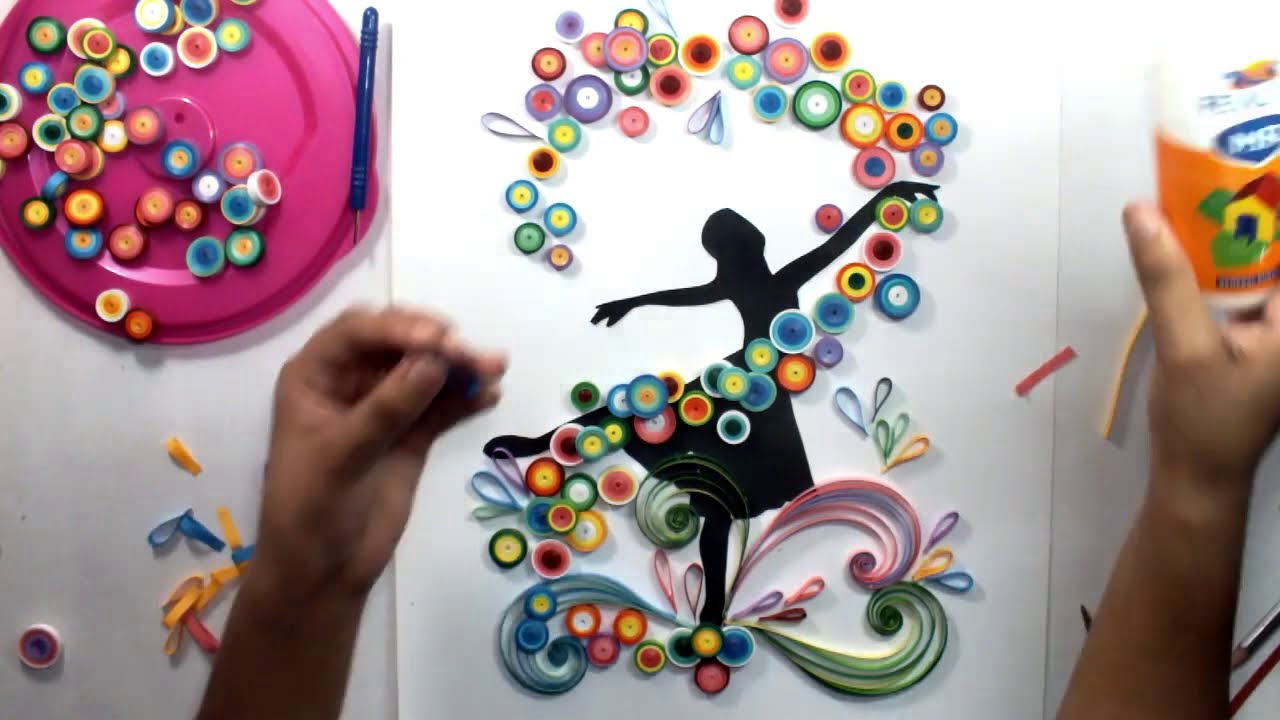 Quilled Ballet Dancing Girl Magic Quill Youtube