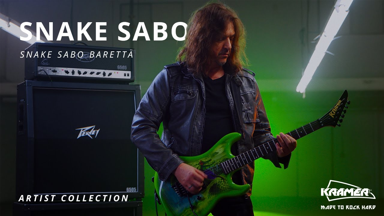 Snake Sabo - Kramer Signature Baretta Guitar (Available Now) 🐍