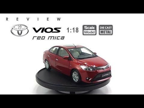 โมเดลรถ TOYOTA Vios 2013 (Red Mica) ขนาด scale 1:18