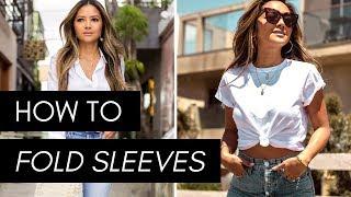 How To Fold Sleeves | T-Shirt, Button Down, Denim Jacket, Blazer