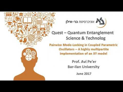 Pairwise Mode-Locking in Coupled Parametric Oscillators - Prof. Avi Pe'er