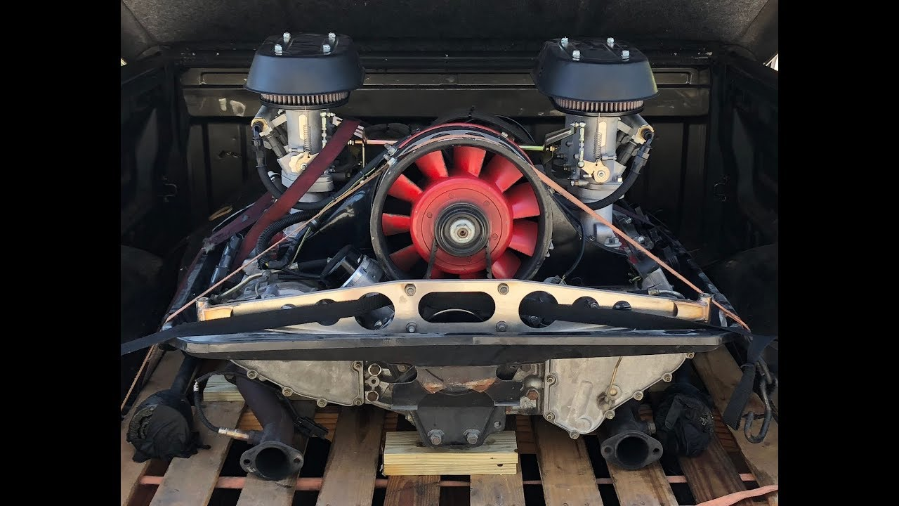 Porsche 911 air cooled engine and tranny are out and being