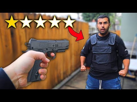 I Bought The WORST Rated BULLET PROOF Vest On WISH!! (1 STAR)