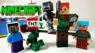 МАЙНКРАФТ. Лего Майнкрафт Мультики Стив Крипер и огромная Алекс Lego MineCraft Мультфильм для детей