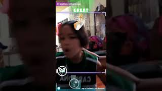 My daughter tried face dance hahaha..  looks good on her.