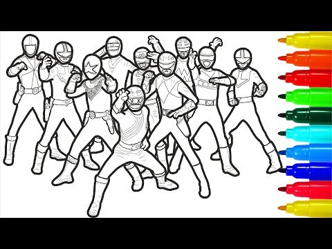 Power Rangers Coloring Pages With Colored Markers For Young Children | Power Rangers Coloring Pages