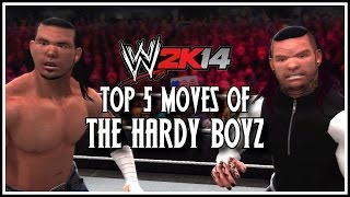 WWE 2K14 - Top 5 Tag Team Moves Of The Hardy Boyz! (WWE 2K14 Countdown)