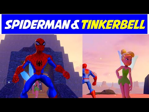 Spiderman & Tinkerbell In The Cave Of Wonders  | Disney Infinity | Animated Toys