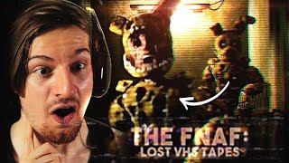 THE CRAZIEST VHS TAPES YET. (Reacting to FNAF VHS Tapes)