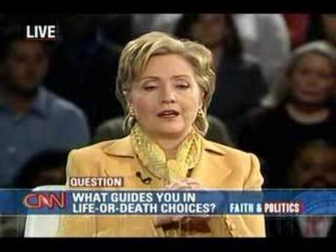 (2/5) Sen. Hillary Clinton at CNN Compassion Forum