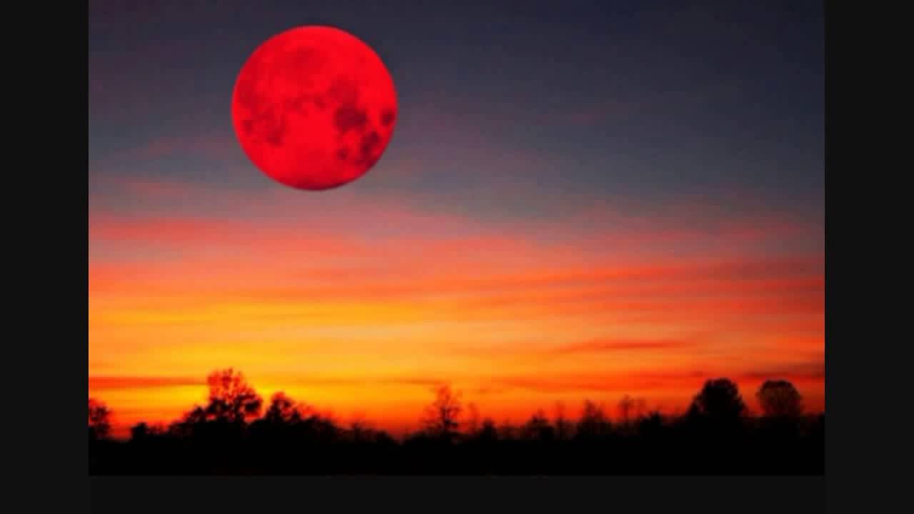 красная луна фото