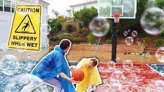 SLIP N SLIDE! BASKETBALL NBA COURT CHALLENGE (ANKLE BREAKER)