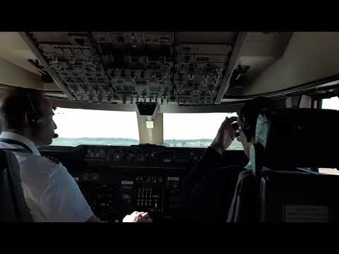 BOEING 747 Cargo,. Quick TAKEOFF from ATLANTA airport on a clear day