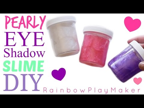 DIY PEARLY EYE SHADOW SLIME!!! DOLLAR TREE SLIME! PIGMENT MIXING HOW TO VIDEO!!