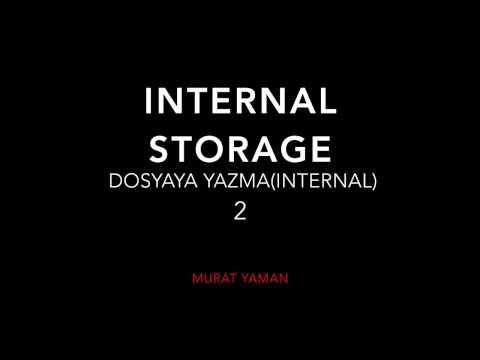Android Dosyadan Veri okuma ve Dosyaya Veri yazma 2 (Write internal Storage)