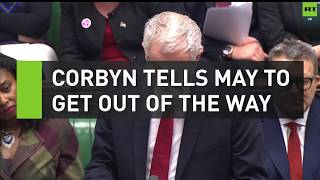 Corbyn tells May to get out of the way at PMQs