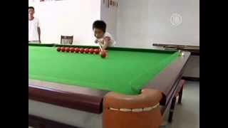 3-летний вундеркинд поражает игрой в бильярд (новости)