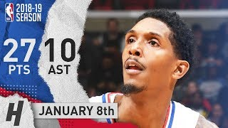 Lou Williams Full Highlights Clippers vs Hornets 2019.01.08 - 27 Pts, 10 Ast, 3 Rebounds!