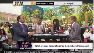 ESPN First Take - Floyd Mayweather and Manny Pacquiao - Jamie Foxx Joins First Take