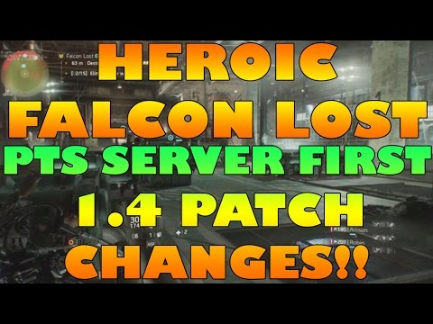 FALCON LOST PTS 1.4 Patch | HEROIC Tier 4 | The Division | THE HARDEST MODE POSSIBLE!