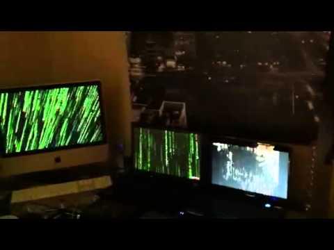 Matrix screensaver multiple screens