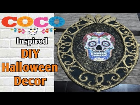 DIY Halloween Decor - Disney Pixar Coco Skull Inspired DIY (Paper Mache DIY)