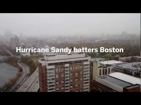 Hurricane Sandy batters Boston