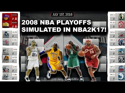 2008 NBA PLAYOFFS SIMULATED IN NBA2K17!!!