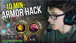ARMOR HACK - Miracle -14 Armor Reduction in 10 Min Brood Mother | Dota 2
