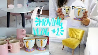 MOVING VLOG #2 | EVERYTHING IS PINK, A HOUSE TOUR OF WHAT I'VE DONE SO FAR+ BUILDING IKEA FURNITURE!