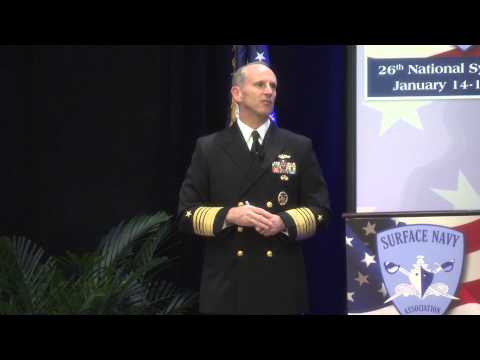 Chief of Naval Operations speaks at Surface Navy Association