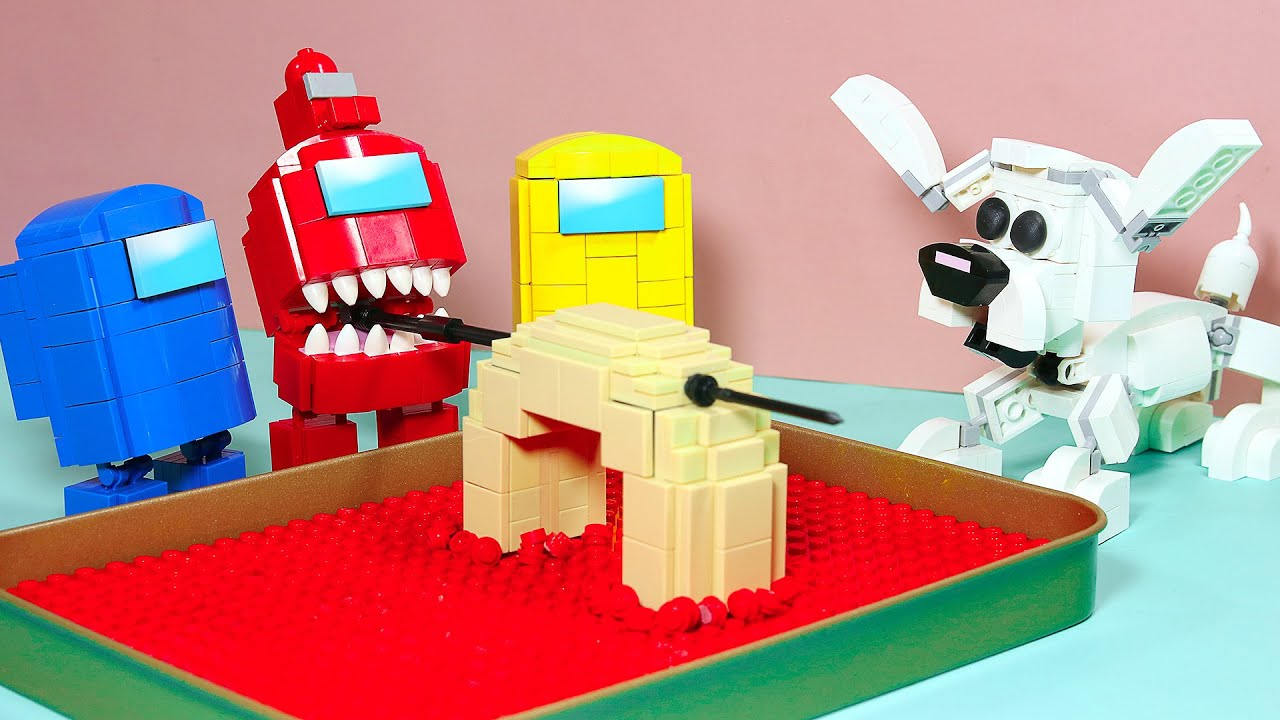 Download AMONG US in LEGO 2 - Making Donut With Pet | Funny Stop Motion Cooking (Lego among us Animation)