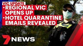 Victoria coronavirus update: Regional Vic opens, South Melb outbreak fears, hotel quarantine | 7NEWS