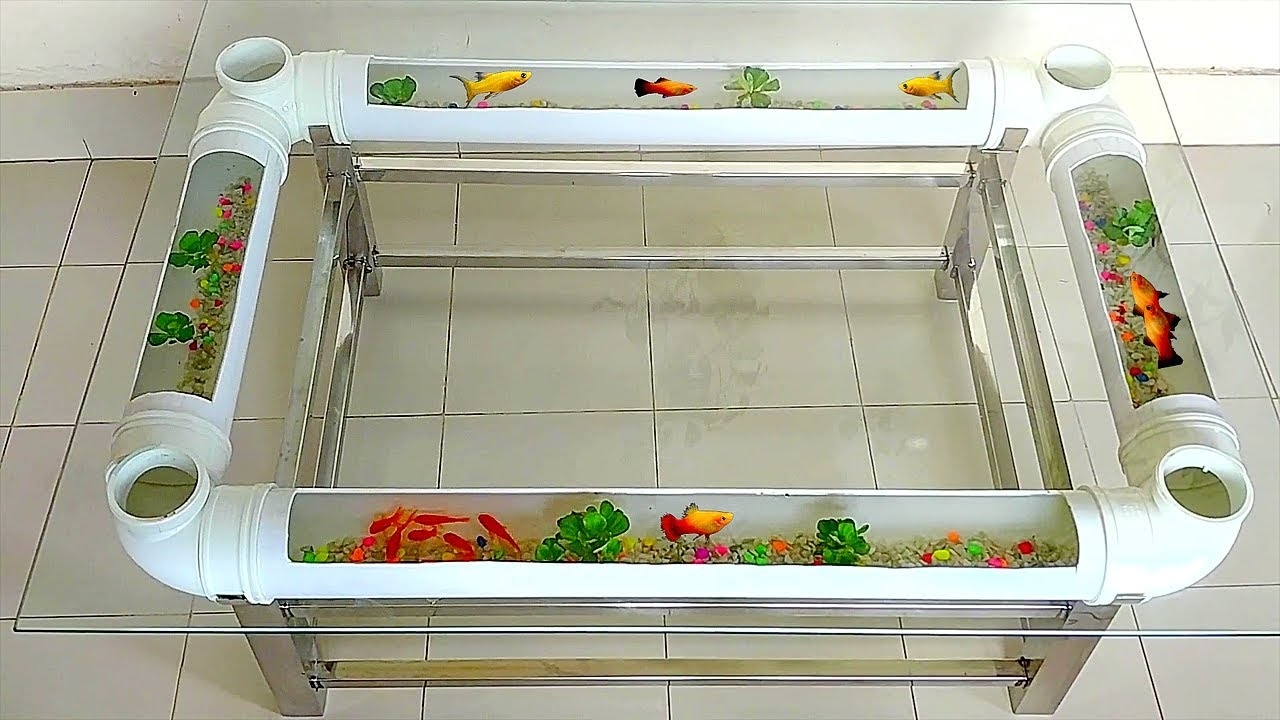 How to Make Center Coffee Table Aquarium with PVC Pipe ...