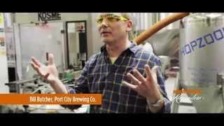 Inside Port City Brewing Company in Alexandria VA