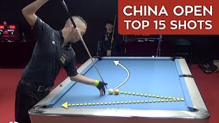 TOP 15 GREAT POOL SHOTS | China Open 2019 (9-Ball Pool)