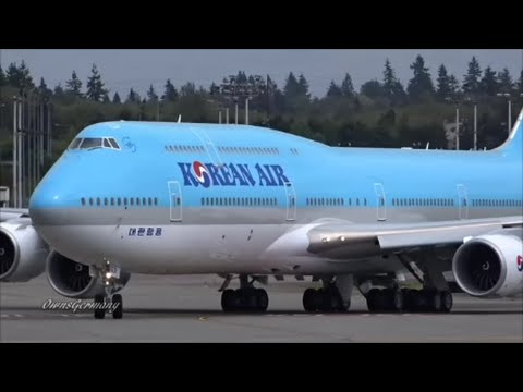 2nd Korean Air Boeing 747-8i Double Reject TakeOffs @ KPAE Paine Field