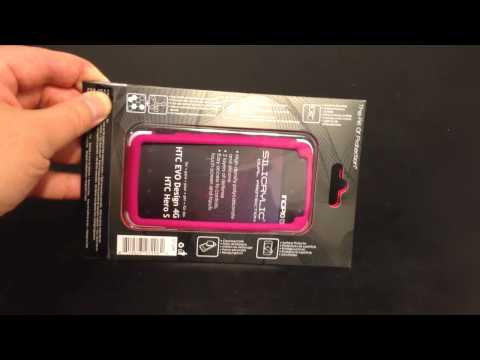 Incipio HTC EVO Design 4G / Hero S SILICRYLIC Hard Shell Case with Silicone Core Unboxing Review