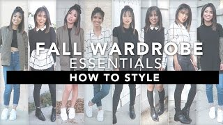 How to Style: 8 Fall Wardrobe Essentials + 8 Outfit Ideas