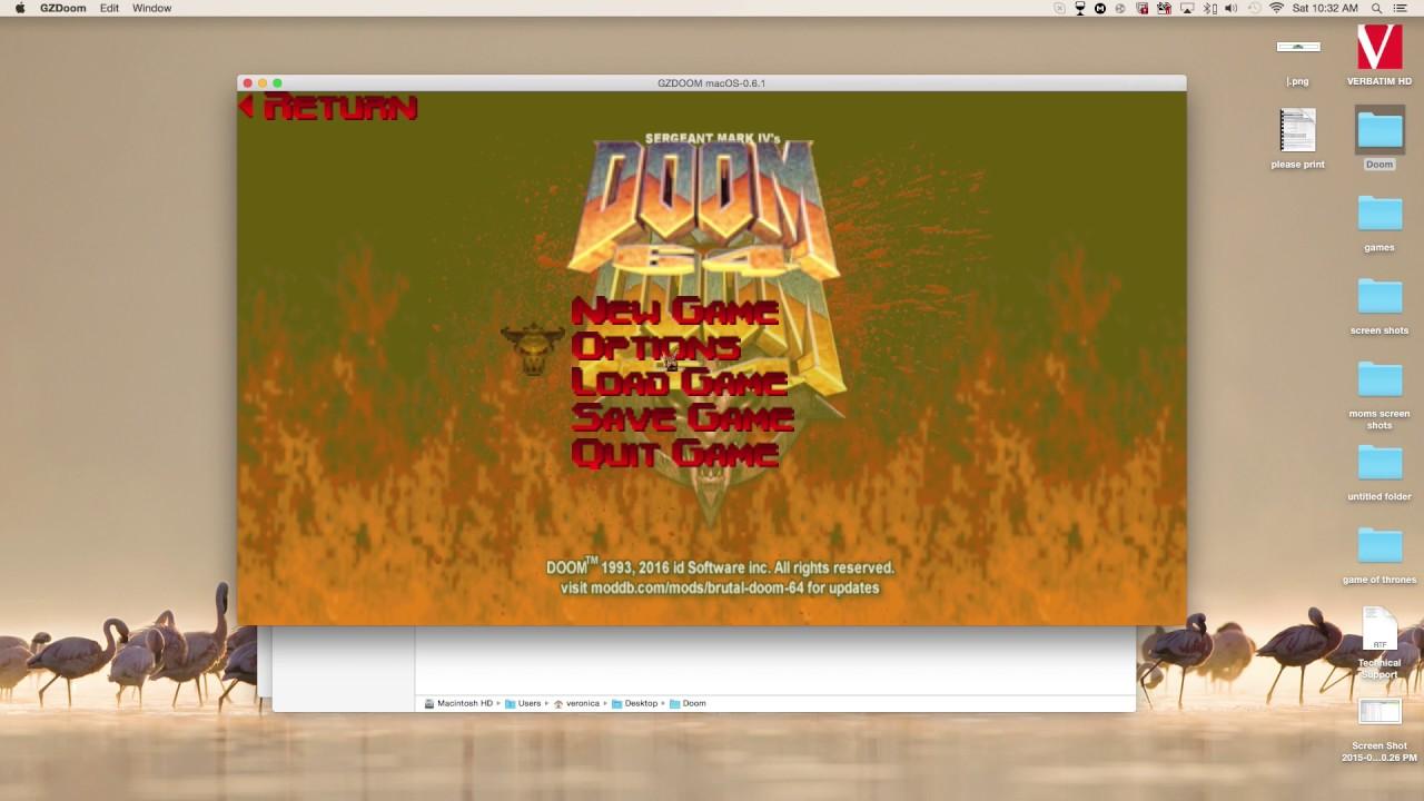 How To Play any doom mod on Mac