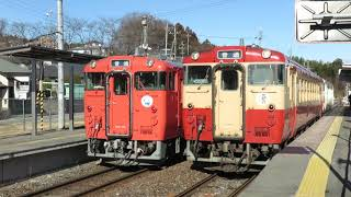 烏山線キハ40形 大金駅発車