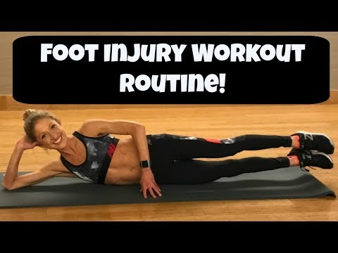 Foot Injury Workout Routine. 20 Minute Full Body Exercise Video